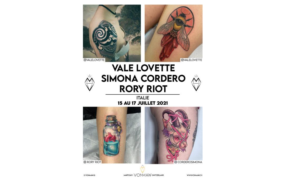 Vale Lovette / Simona Cordero / Rory Riot – Guest – du 15 au 17 juillet 2021