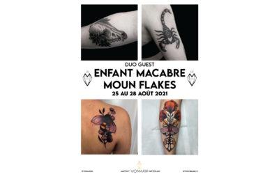 Enfant Macabre / Moun Flakes – Guest – du 25 au 28 août 2021