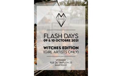 Flash days – Witches edition – 09 et 10 octobre 2021